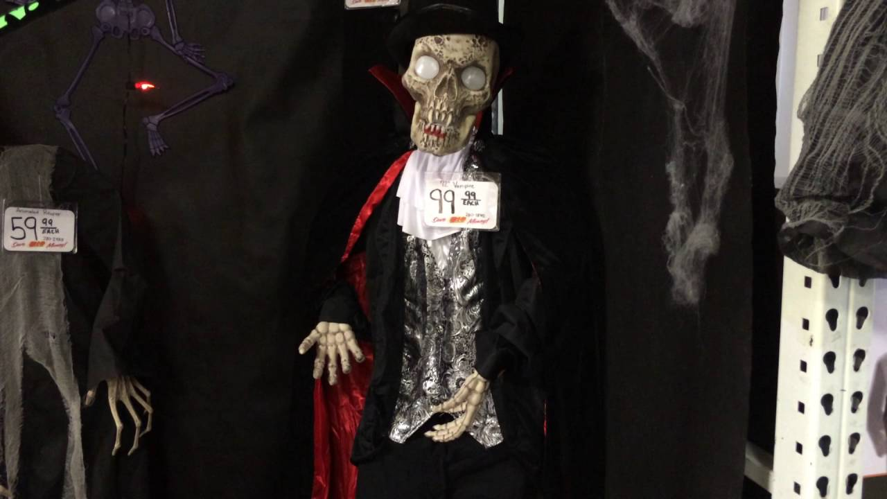 menards halloween 2016 bobble head victorian vampire skeleton - Menards Halloween Decorations