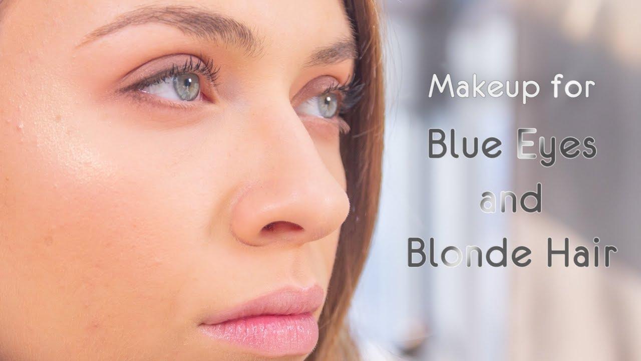 makeup tutorial - blue eyes and blonde hair