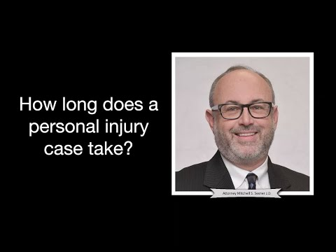 How long does a personal injury case take? Mitch Sexner, founder of Sexner & Associates LLC in Chicago, discusses how long a personal injury case can take to reach a settlement...