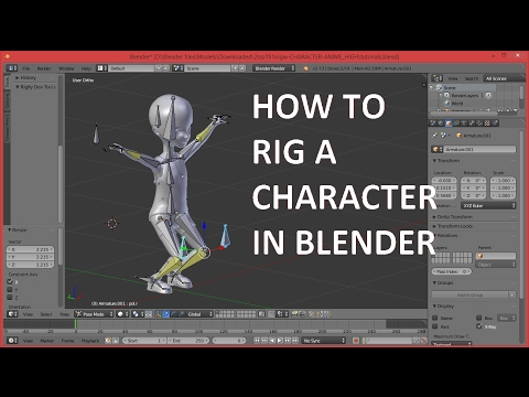 How To Rig A Character In Blender-LIKE A PROFESSIONAL 3D ARTIST-with BLENDER INVERSE KINEMATICS