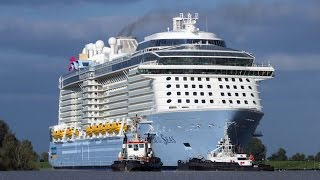 Emsüberführung / River Conveyance Quantum of the Seas | third largest Cruiseship in the World!