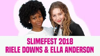 Ella Anderson & Riele Downs Talk Henry Danger, Fashion & More | SlimeFest 2018