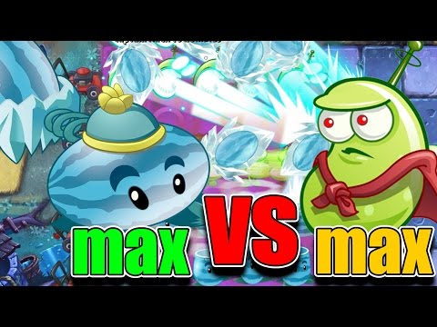 Plants vs Zombies 2 : MAX vs MAX -  Winter Melon vs Laser Bean