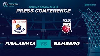Montakit Fuenlabrada v Brose Bamberg - Press Conference - Basketball Champions League