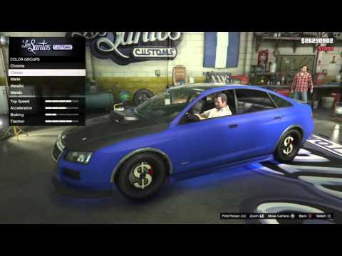 GTA 5 PS4 Upgrading Michael S Car