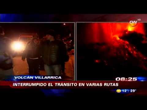 Extracto canal Chilevision, Chile por Erupcion de Volcan Villarrica, 03.03.2015