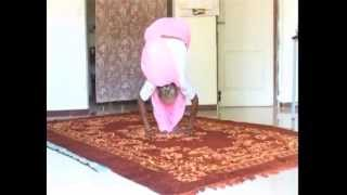 93 years old lady performing  yoga and doing good health