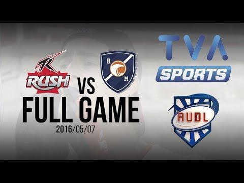 Toronto Rush VS Royal   GAME   AUDL   TVA SPORTS   Ultimate frisbee   Montreal Royal