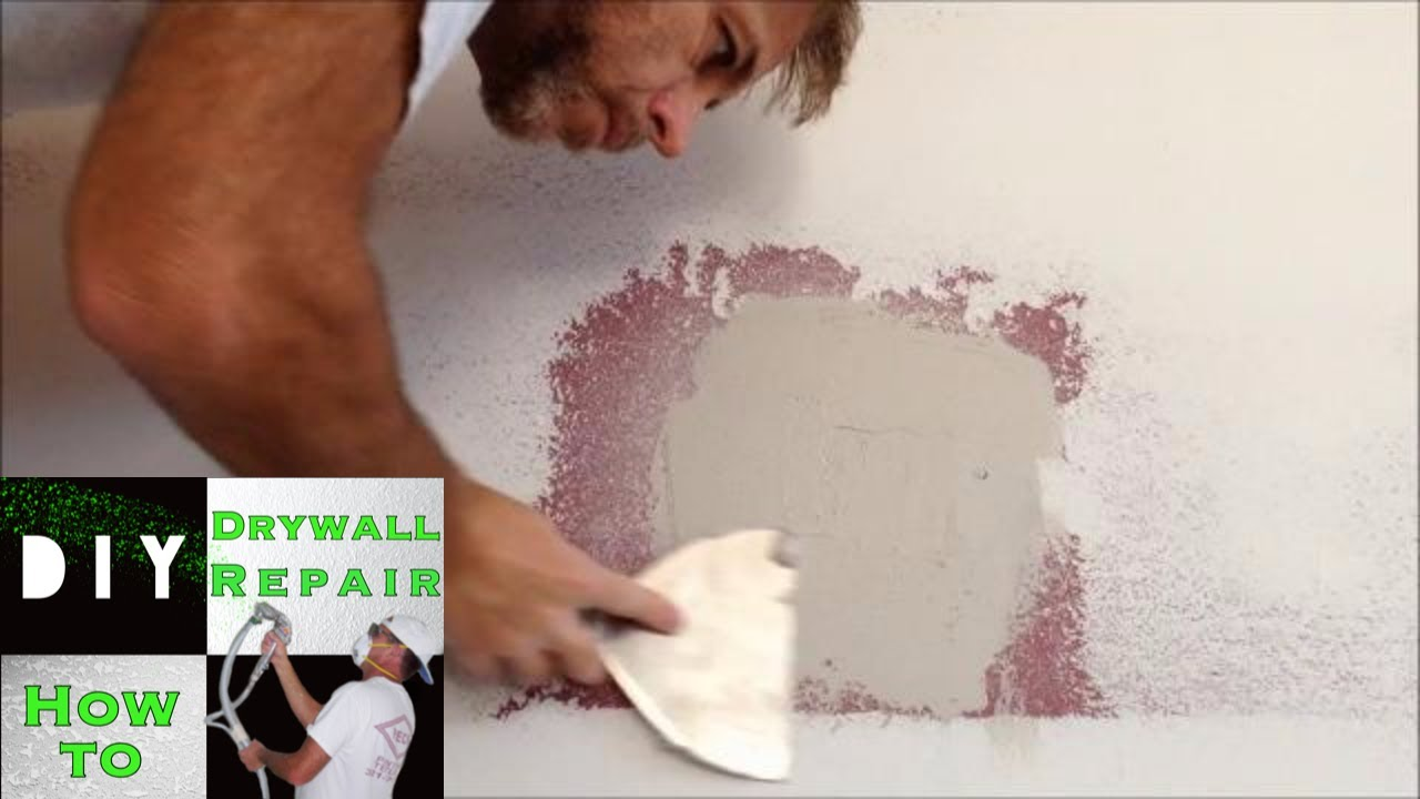 How to repair a hole in drywall- Door Knob Hole- Drywall Pro Tips ...