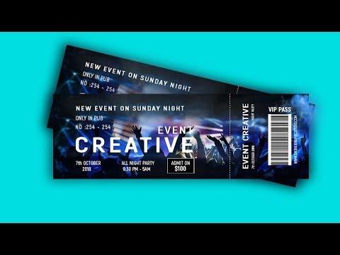 Как нарисовать билет на концерт
