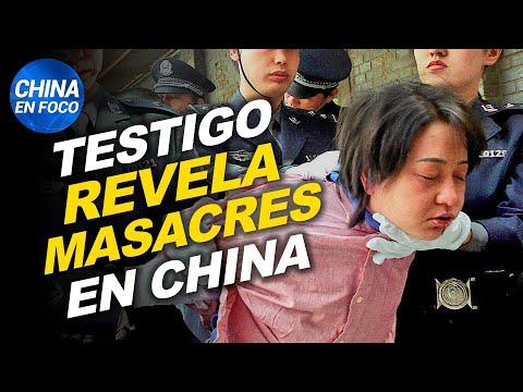 Masacres en China: testigo cuenta todo. Río se tiñe de rojo. Se cae un hotel en China
