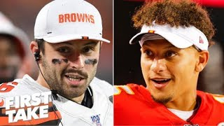 Which QB has more superstar potential: Baker Mayfield or Patrick Mahomes? | First Take