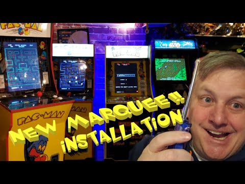 Look! I installed a new light-up Marquee on my 1st Generation Arcade 1up Pac-Man cabinet from Knick-Knack's Plastic Planet