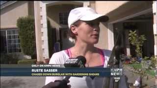 Woman Uses Gardening Shears to Catch Burglar