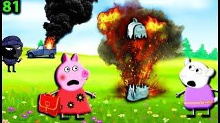 Мультики Свинка Пеппа на русском peppa 81 МЕСТЬ БАНДИТА Мультфильмы для детей свинка пеппа