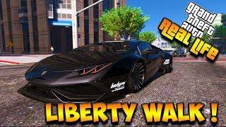 LAMBORGHINI HURACAN LIBERTY WALK PUNYA SULTAN !!!    GTA 5 MOD DUNIA NYATA (GTA 5 REAL LIFE)