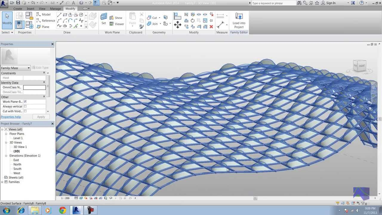 1 Revit Curtain Panel Pattern Based Arabic Youtube
