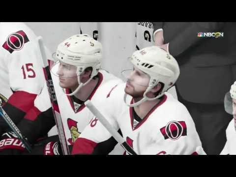Boston Bruins vs Ottawa Senators - Game 3 - Round 1 - NHL 17 STANLEY CUP PLAYOFF SIM