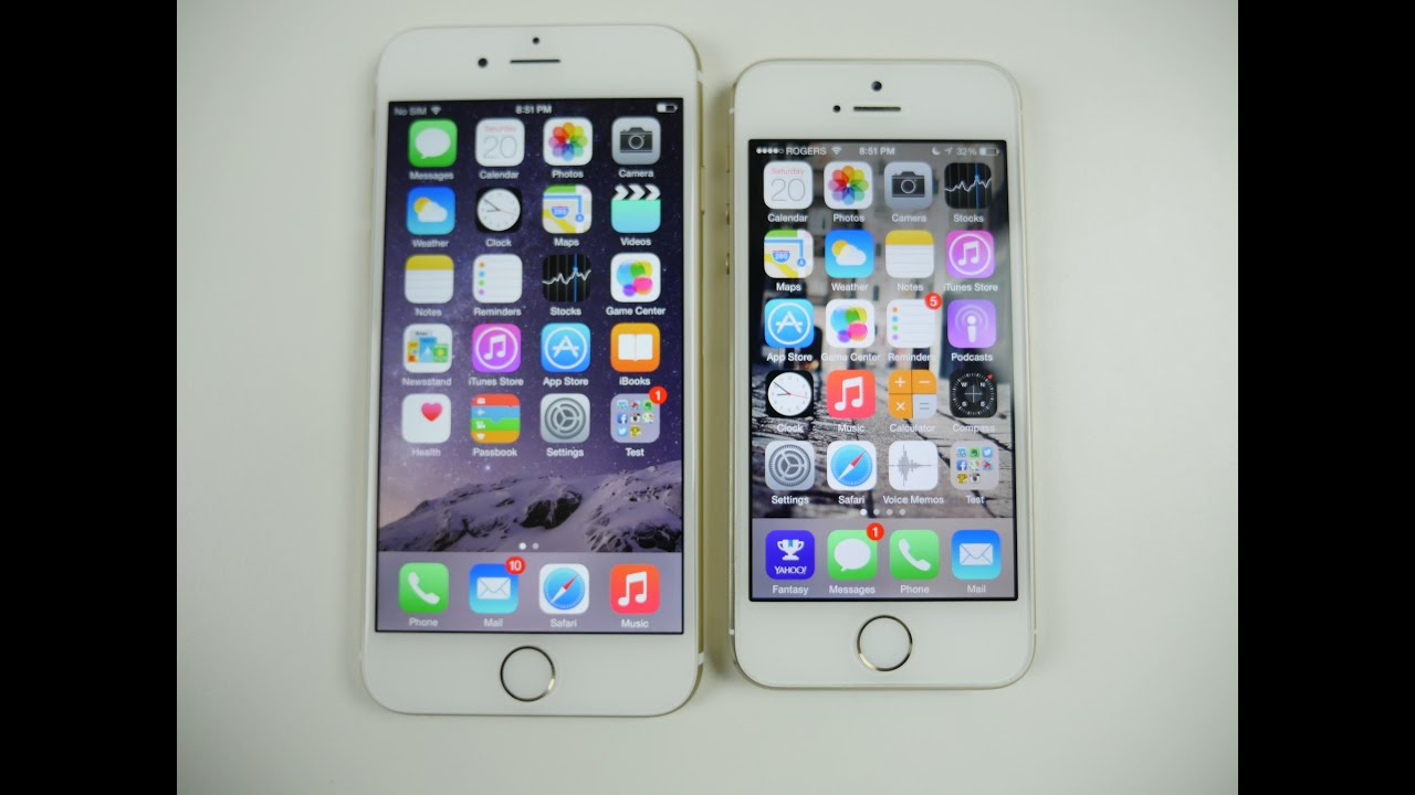 Iphone 6 Vs Phone 5s Comparison And Speed Test Youtube