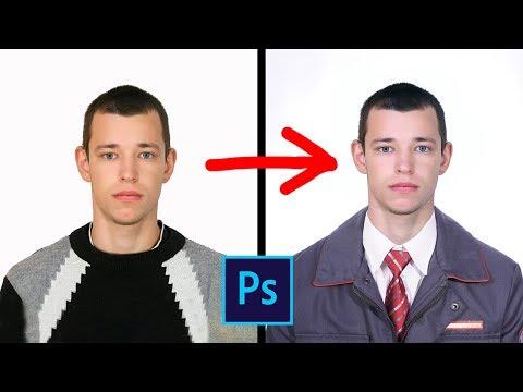 Как перенести голову с одной фотографии на другую в фотошопе