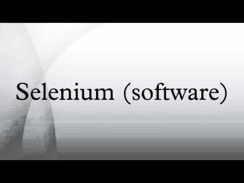 Selenium (software)
