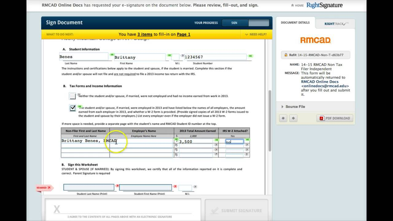 RMCAD Online Non Tax Filer Form - YouTube
