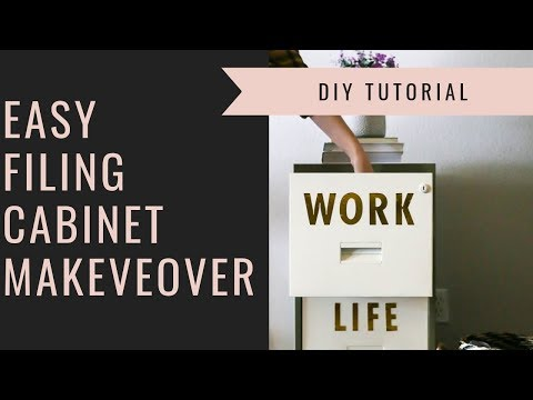 DIY Metal Filing Cabinet Makeover
