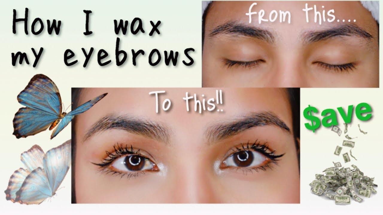 How I Wax My Eyebrows - YouTube