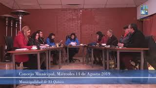 Concejo Municipal El Quisco 14 de agosto 2019