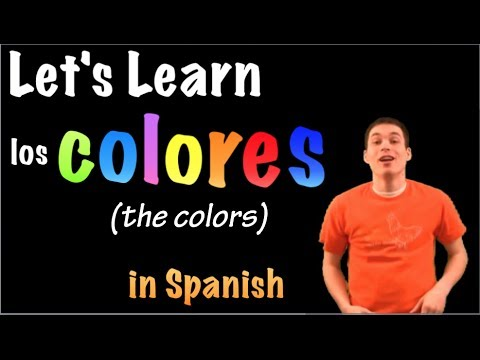 Learn spanish the colors los colores part 1 youtube for Colors in spanish