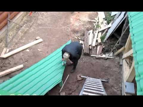 видео: Как построить деревянный каркасный сарай своими силами