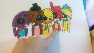 Мои рисунки фнаф ( моё первое видео(, 2016-06-28T08:06:48.000Z)