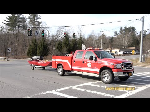 Katonah FD Rescue 17 + Utility 8 Towing Boat + Engine 117 Responding