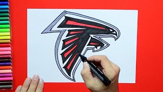 How to draw and color the Atlanta Falcons logo - NFL Team Series