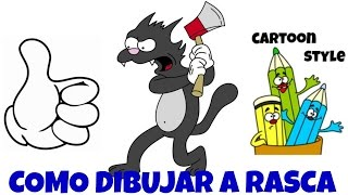 Como Dibujar a Rasca - How to Draw Scratchy - Tomy y Daly - The Simpsons - Cartoon Style