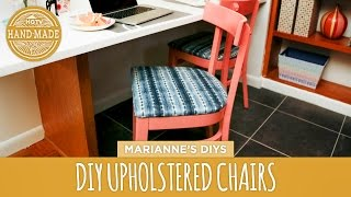 How To Upholster A Dining Chair + Kitchen Preview! - Hgtv Handmade