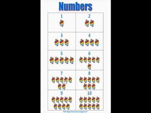 Numbers Chart 1 to 10 (Math Charts) - YouTube
