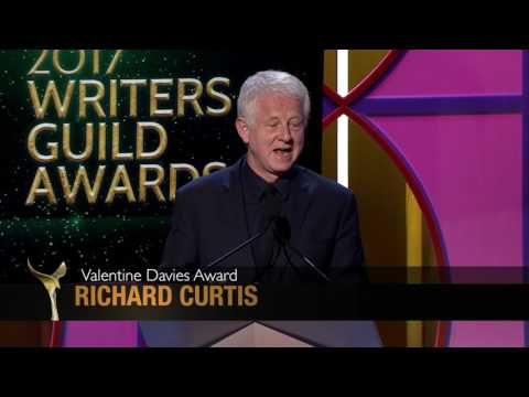 Jeff Goldblum presents the WGAW's Valentine Davies Award to Love Actually Writer Richard Curtis