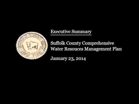 Executive Summary - Suffolk County Comprehensive Water Resources Management Plan