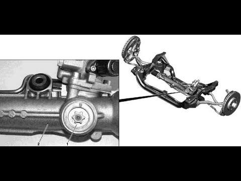 как отрегулировать рулевую рейку мерседес c220