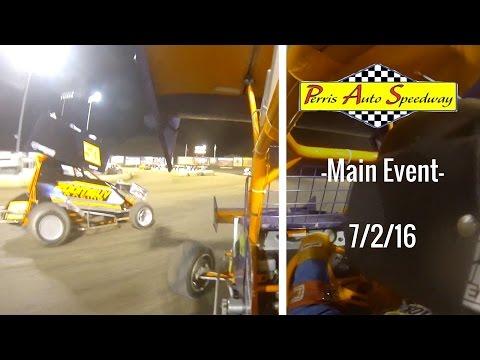 California Lightning Sprint at Perris Auto Speedway -Main Event- 7/2/16