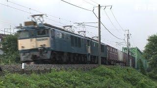 EF64形電機国鉄色重連仕業の貨物列車 2009年 信越本線北長野駅他 HDV-1641