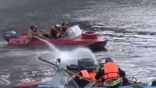 пожарно-тактические учения на воде Тюмень