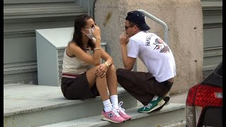 EXCLUSIVE: Bella Hadid and new bf Marc Kalman wear matching New Balance sneakers in Tribeca