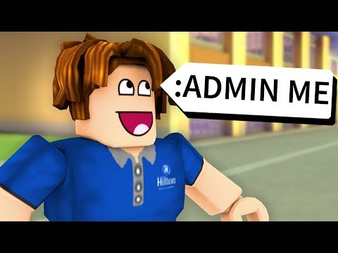 USING ADMIN COMMANDS AT ROBLOX HILTON HOTEL