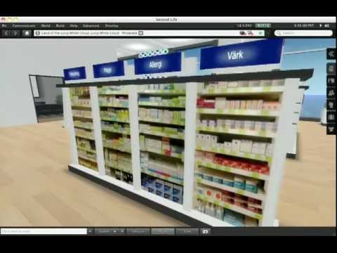 Communication training in a virtual pharmacy