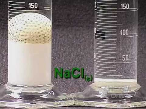 Floating Golf Ball: Supersaturated Solution - YouTube