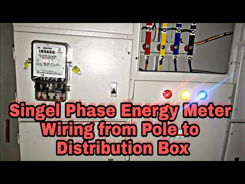 Single phase energy meter wiring from pole to Distribution box