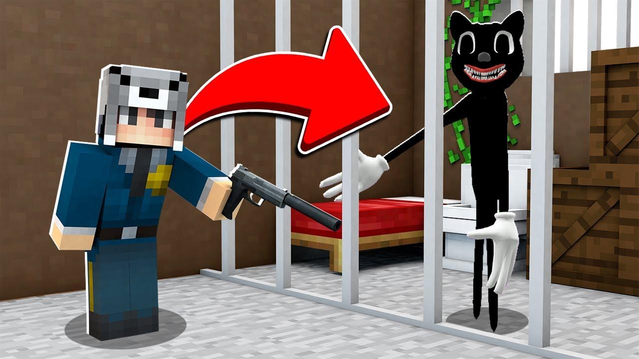 Download CARTOON CATİ HAPSE ATTIM 😱 - Minecraft