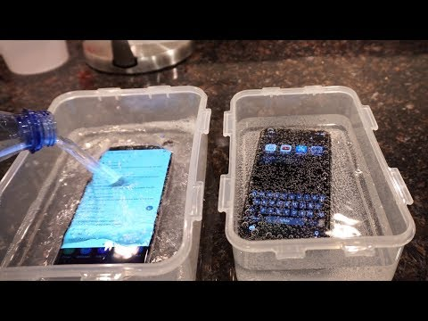 Samsung Galaxy S9 Plus vs iPhone X - Sparkling Water FREEZE Test! What's Gonna Happen?!